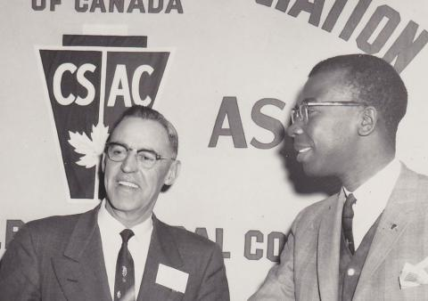 Cal Best (right) and leaders of the Civil Service Association of Canada, a precursor to PSAC