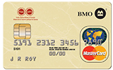 Picture of a Mastercard by BMO with the PSAC logo.