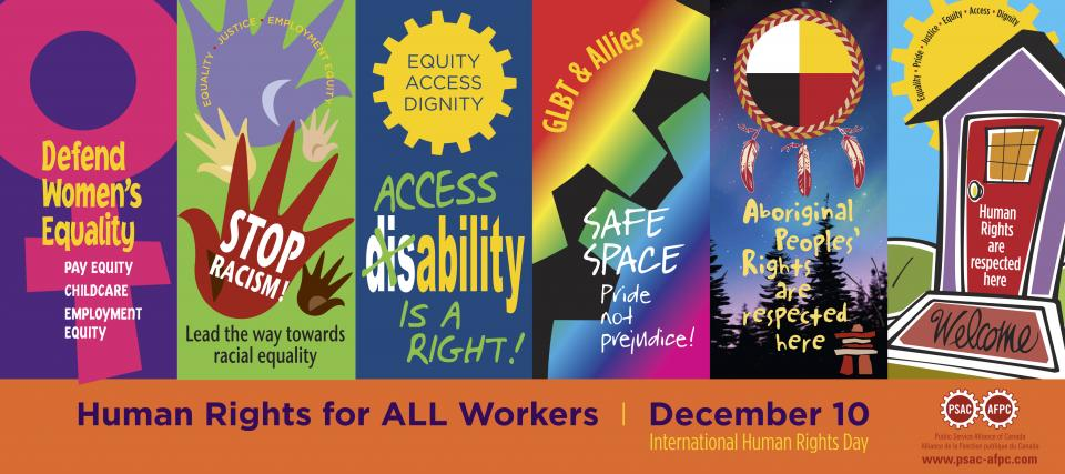 Human rights for ALL workers. December 10 is International Human Rights Day.