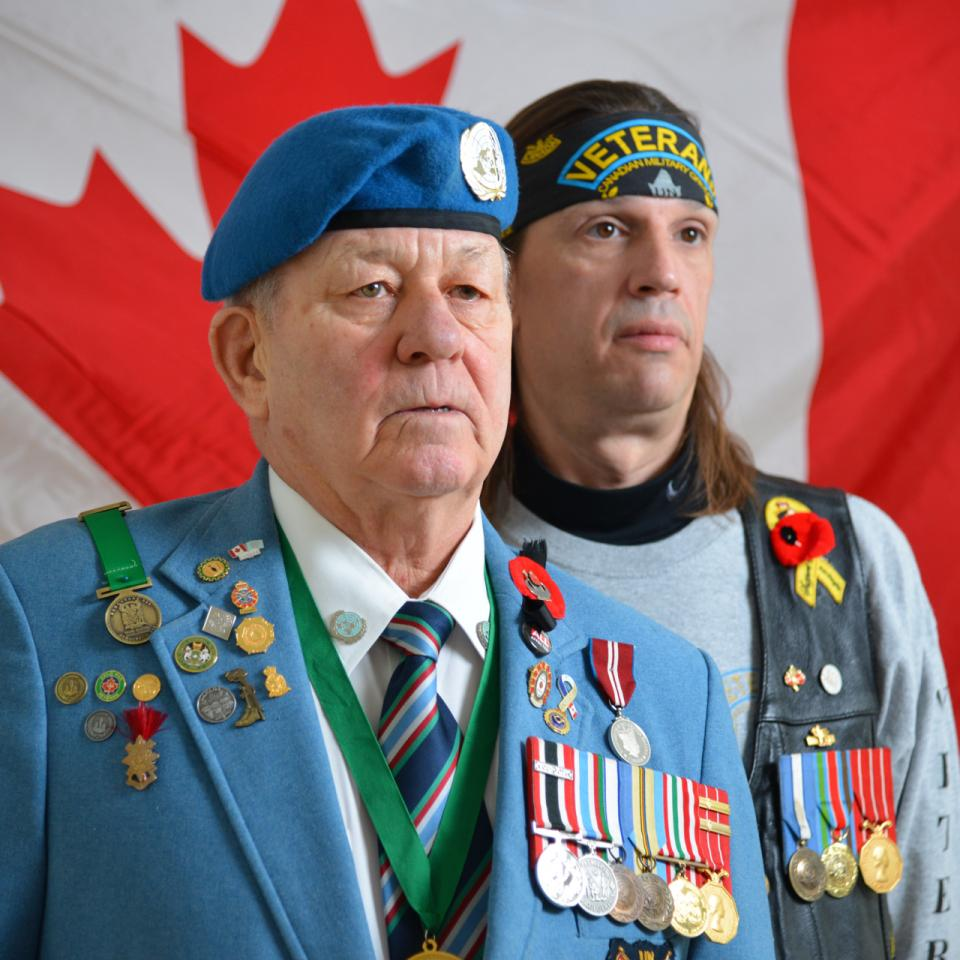 Veterans Ron Clarke and Vince Rigby