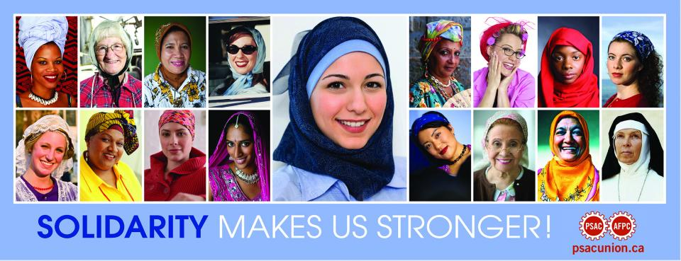 Poster of women wearing different kinds of head scarves