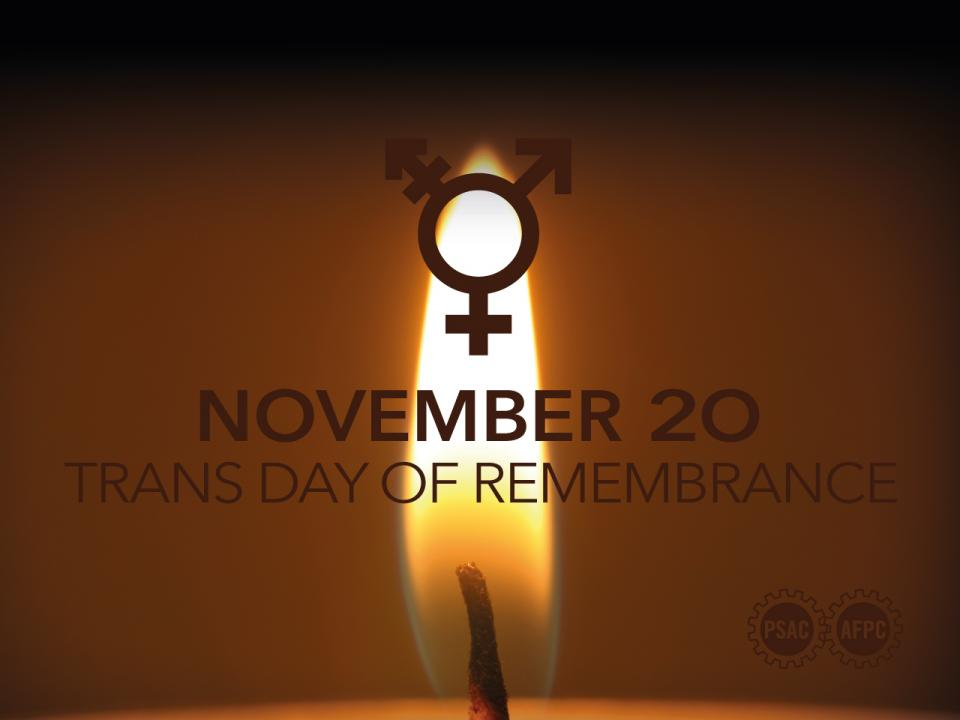 November 20 is Trans Day of Remembrance.